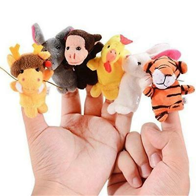 12Pcs Family Finger Puppets Cloth Doll Baby Educational Hand Animal Toy Lovely
