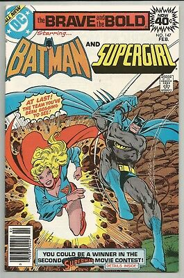 Brave & The Bold No 147 Feb 1979 Batman & Supergirl Jim Aparo Art Dc Comics Vf+