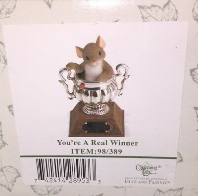 You're A Real Winner 98/389 Charming Tails Trophy Mouse Fitz & Floyd