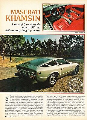 1976 Maserati Khamsin Road Test & Technical Data Review Article