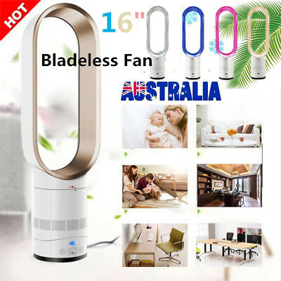 "16"" Bladeless Fan Low db AirFlow Cooling Cool Fan Low Portable Remote Control AU"