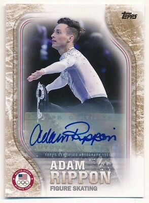 Adam Rippon 2018 Topps Us Olympic Team Gold Autograph Usa Auto Sp #04/25 $120