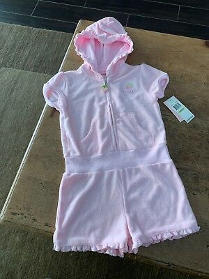 IZOD Pink Strawberry Jumper Romper Size 4T With Tags