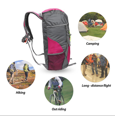 e943bb9951 35L Foldable Backpack Durable Waterproof Unisex Sports Backpack Hiking Bag  New