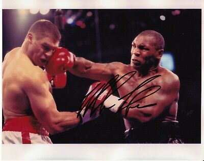 Mike Tyson Hand Signed Boxing Photograph with COA