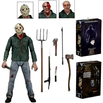 "NECA Friday the 13th Part III 3D JASON VOORHEES Scale Ultimate 7"" Figure Model"