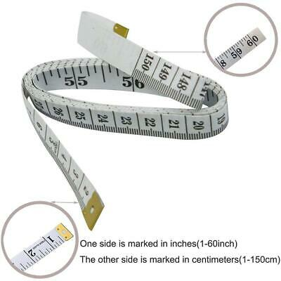 3pcs Body Measuring Ruler Sewing Cloth Tailor Tape Measure Soft Flat 60IN 150CM