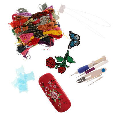 Cross Stitch Embroidery Starter Kit DIY Tools Thread Fabric for Beginners