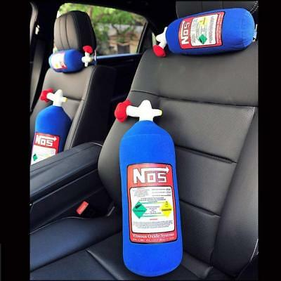 NOS Nitrous Oxide Bottle Tank Shape Car Home Pillow Plush Turbo JDM Toy 28*10cm