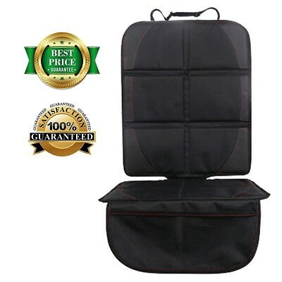 [Heavy Duty] Black Waterproof Leather Car Seat Mat Protector Thickest Padding US
