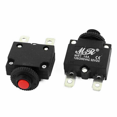 2pc MR1 125/250V AC/32VDC 15A Disjoncteur Switch surcharge courant
