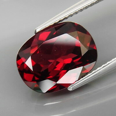 5.60Ct.Outstanding Color! Natural BIG Red Rhodolite Garnet Africa Good Cutting