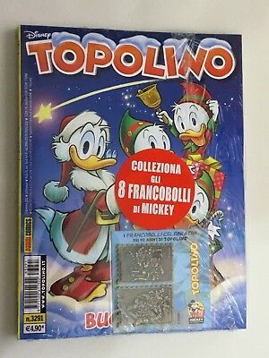 Topolino 3291 Con Francobolli Celebrativi IN METALLO Disney PANINI COMICS