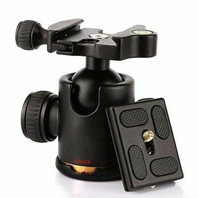 EXMAX Heavy Duty Tripod Ball Head with Double 360°Fluid Rotation Quick Release