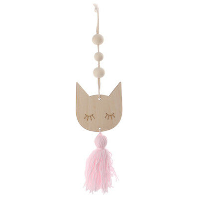 Nordic Style Cute Wooden Beads Tassel Hanging Pendant Kid's Room Decoration