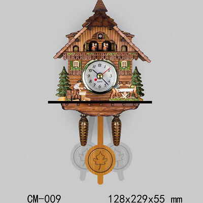 Antique Cuckoo Wall Clock Vintage Wooden Clock Home Decor Excellent Gift I