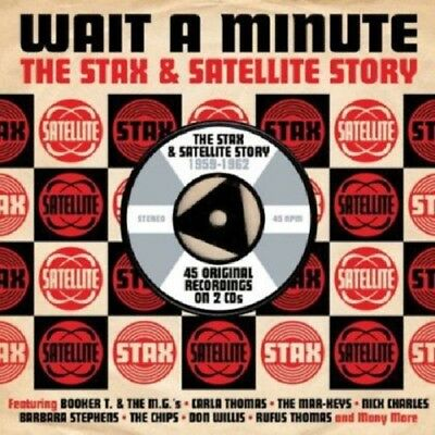 Wait A Minute-Stax & Satellite Story 1959-62 2-CD NEW SEALED Soul Mar-Keys/Chips
