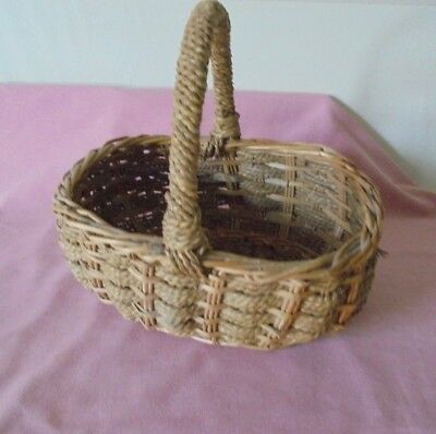 Small Woven Harvest/ Garden / Display Basket With Handle