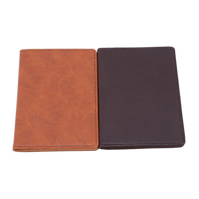 Passport Cover Waterproof Card Holder Simple Case PU Leather Wallet for Men CB
