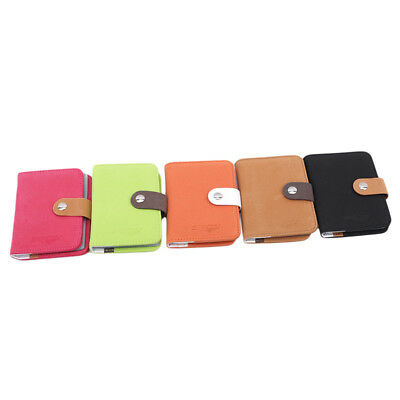 Matte Leather Credit Card Case Business Simple Women Coin Holder Wallet Purse CB