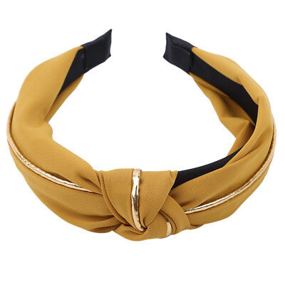 Ladies Hair Accessories Beauty Gold Rim Knotted Fashion Headband Headdress CB