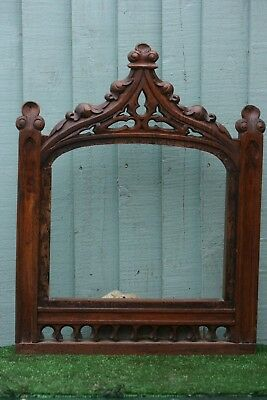 SUPERB MID 19thC GOTHIC, WOODEN OAK CARVED FRAME WITH TRACERY CARVINGS c1860s