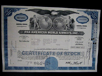 """PAN AMERICAN WORLD AIRWAYS, INC:"", Hist. Wertpapier, US - Luftfahrtkonzern"