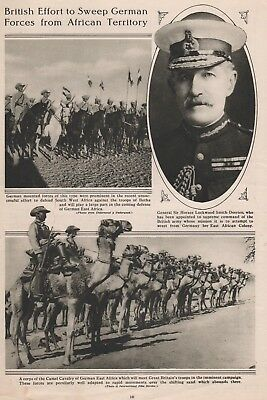 1915 WWI - British Effort To Sweep German Forces From African Territory