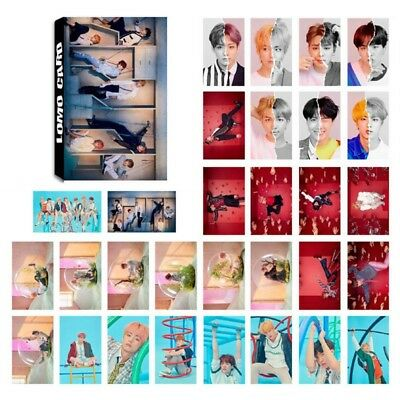 30pcs / Set Kpop Bts Love Yourself 結 Answer Mini Poster Figurine Lomo Cartoncino