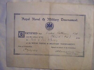 Royal Tournament Cadet Sword Competition British Army Navy 1919 History London