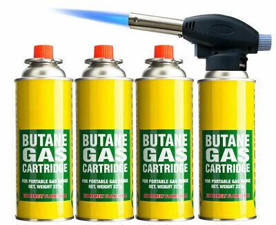 Blow Torch Butane Flame Thrower Burner Welding Auto Ignition Blowtorch Weed BBQ