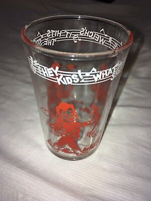 Vintage Howdy Doody Welch's Drinking Glass 1953 / Red