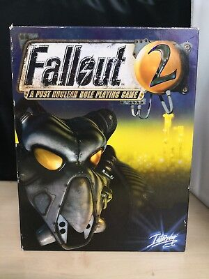 Vintage Fallout 2 Big Box PC Game + Fallout 1 CD Rom #25D