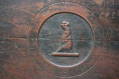 SUPERB 16thC WOODEN OAK PANEL WITH RELIEF GOTHIC CARVING of ENGLISH ORIG c1580s