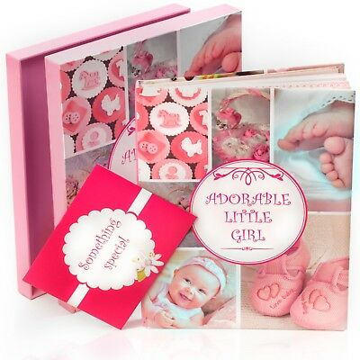 Newborn Baby Memory Book for Boy or Girl (First Year to 5) Pink and Blue