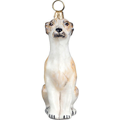 Whippet Polish Glass Christmas Ornament Dog Tree Decoration Made in Poland