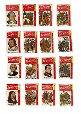 Nos 1-32 Old Australia Brymay Redheads c1900s used matchbox labels Explorers.