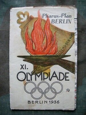 Pharus-Plan XI. Olympiade Berlin 1936   100% original