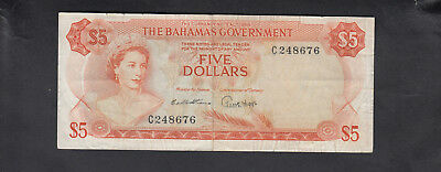 1965 Bahamas Government 5 Dollars