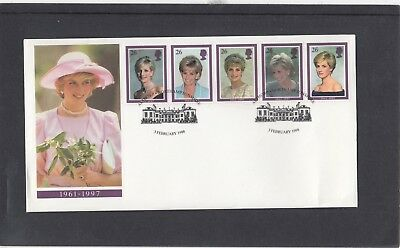 GB 1998 Diana Princess of Wales Commemoration Royal Mail FDC Althorp pictor pmk