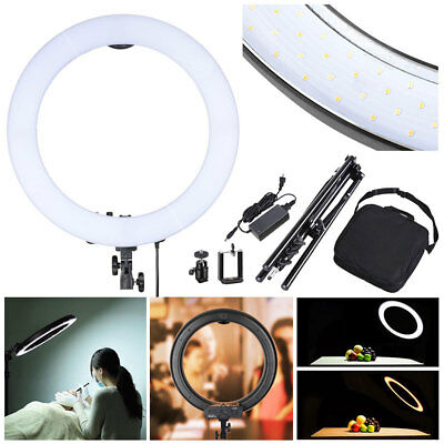 """19"""" LED Ring Light w/ Stand Dimmable 3200-5500K Lighting Kit Photo Video Makeup"""