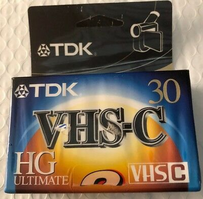 TDK VHS C HG Ultimate Camcorder Video Cassette TC-30 HG