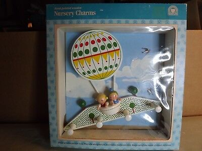 Vintage Heartline Hand Painted Wooden Nursery Charms Made in Italy MIP