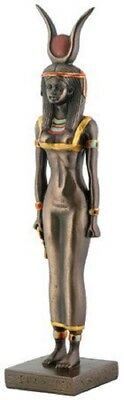 Egyptian Goddess Isis Bronze Statue Figurine Ancient Egypt Deity God Decoration