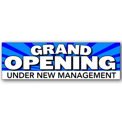 Grand Opening Under New Management Vinyl Banner (Size Options)