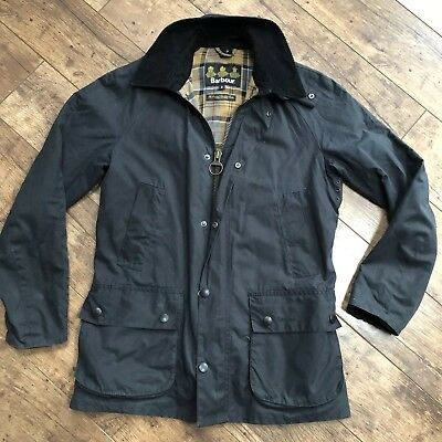 Men's Barbour Ashby Navy Blue Wax Jacket Small