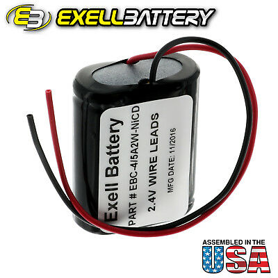 Exell 2.4V 1200mah NiCd  Battery Pack w/ Wire Leads RC Boats Cars Planes Hobby