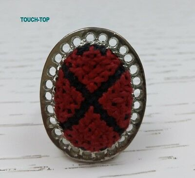 Wow Rare used Handmade  Red Ring Embroidery Women uniqueTradition