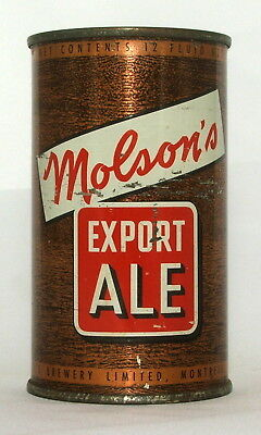 Molson's Export Ale 12 oz. Flat Top Beer Can-Montreal, Canada