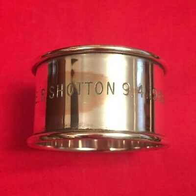 Vintage Silver Plated Napkin Ring c.1968